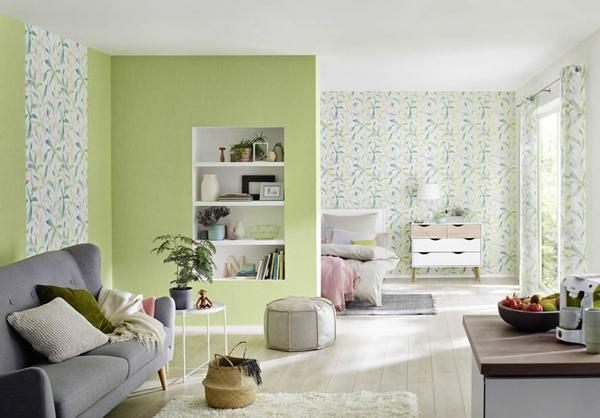 วอลล์เปเปอร์ สีเขียว พาสเทล สีสวยหวาน