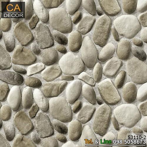 วอลเปเปอร์ลายหินกรวดสีขาวเทา