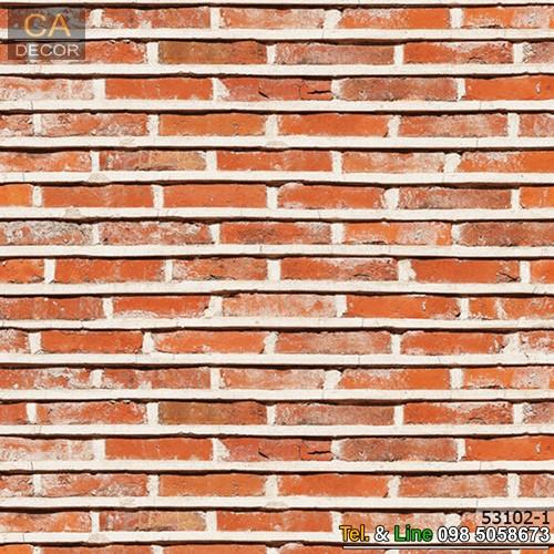วอลเปเปอร์ลายอิฐสีส้ม_53102-1